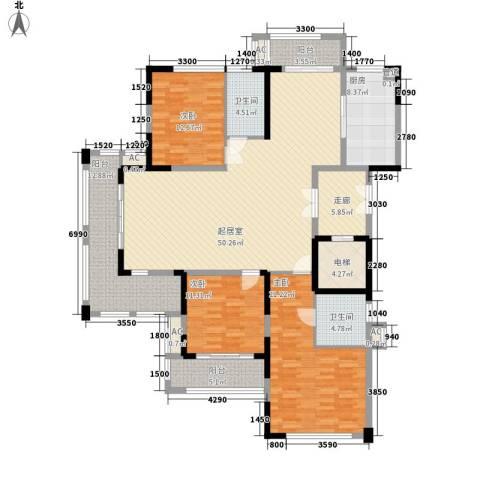 保利国际花园别墅3室0厅2卫1厨146.67㎡户型图