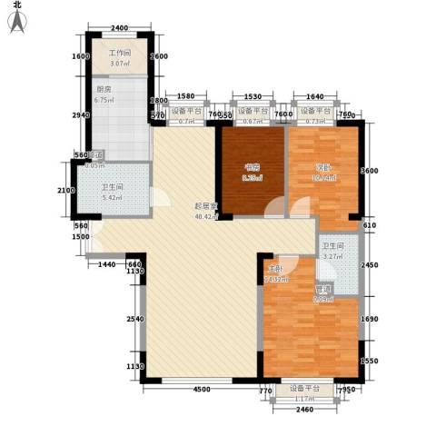 哈佛特区3室0厅2卫1厨95.05㎡户型图
