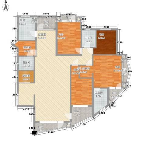 众益阳光海岸4室0厅3卫1厨168.00㎡户型图