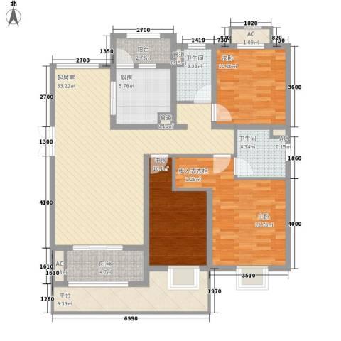 恒盛上花园3室0厅2卫1厨148.00㎡户型图