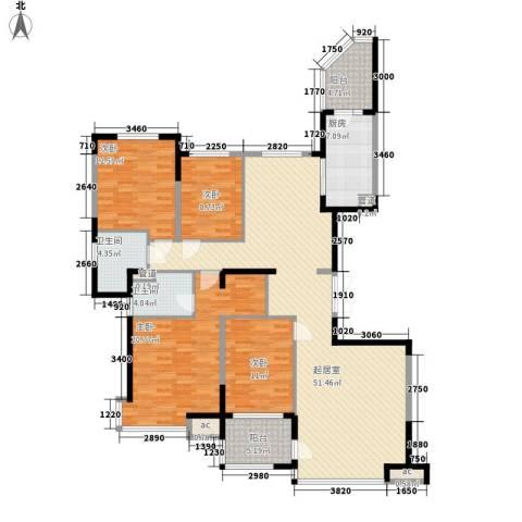 阿城恒大城4室0厅2卫1厨187.00㎡户型图