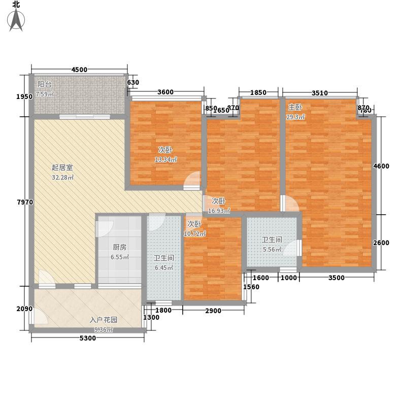 佳信叠彩名门1176795708987户型3室2厅1卫1厨