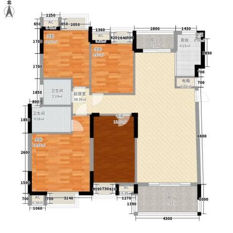 康怡花园4期4室0厅2卫1厨140.00㎡户型图