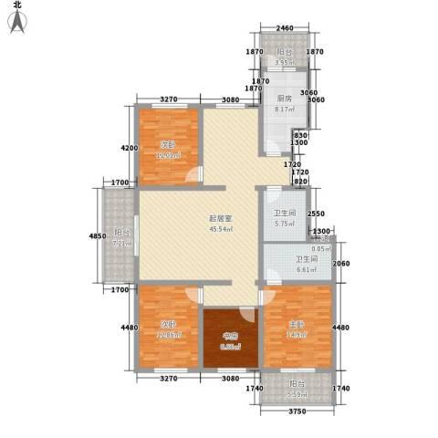 馨兰小区4室0厅2卫1厨187.00㎡户型图
