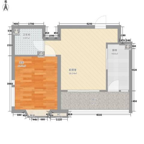 城南嘉园1室0厅1卫1厨62.00㎡户型图