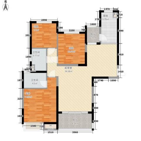 阿城恒大城3室0厅2卫1厨130.00㎡户型图
