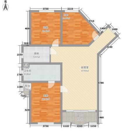 王子公寓3室0厅1卫1厨142.00㎡户型图