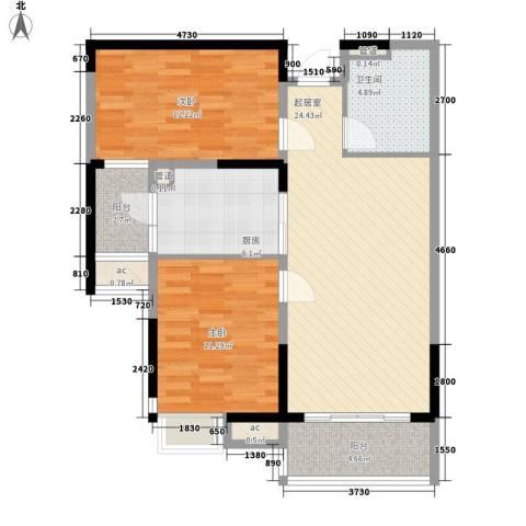 阿城恒大城2室0厅1卫1厨98.00㎡户型图