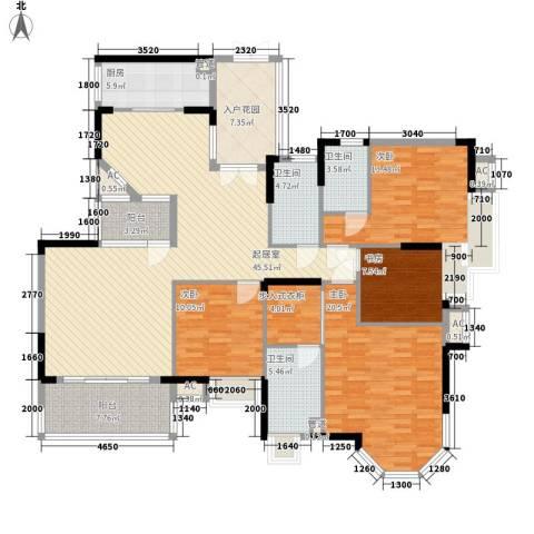 康怡花园4期4室0厅3卫1厨169.00㎡户型图