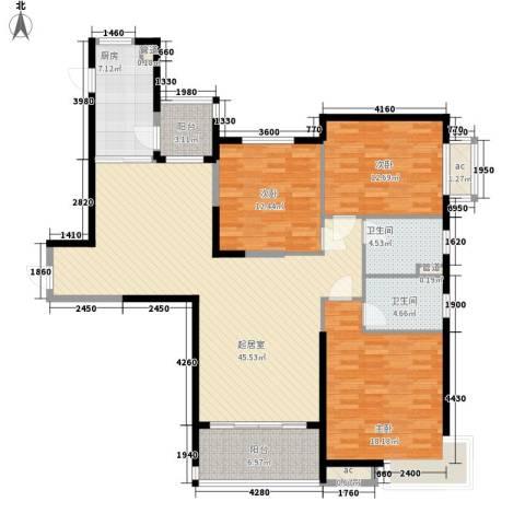 阿城恒大城3室0厅2卫1厨149.00㎡户型图
