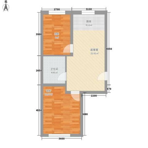 辽东一区2室0厅1卫0厨70.00㎡户型图