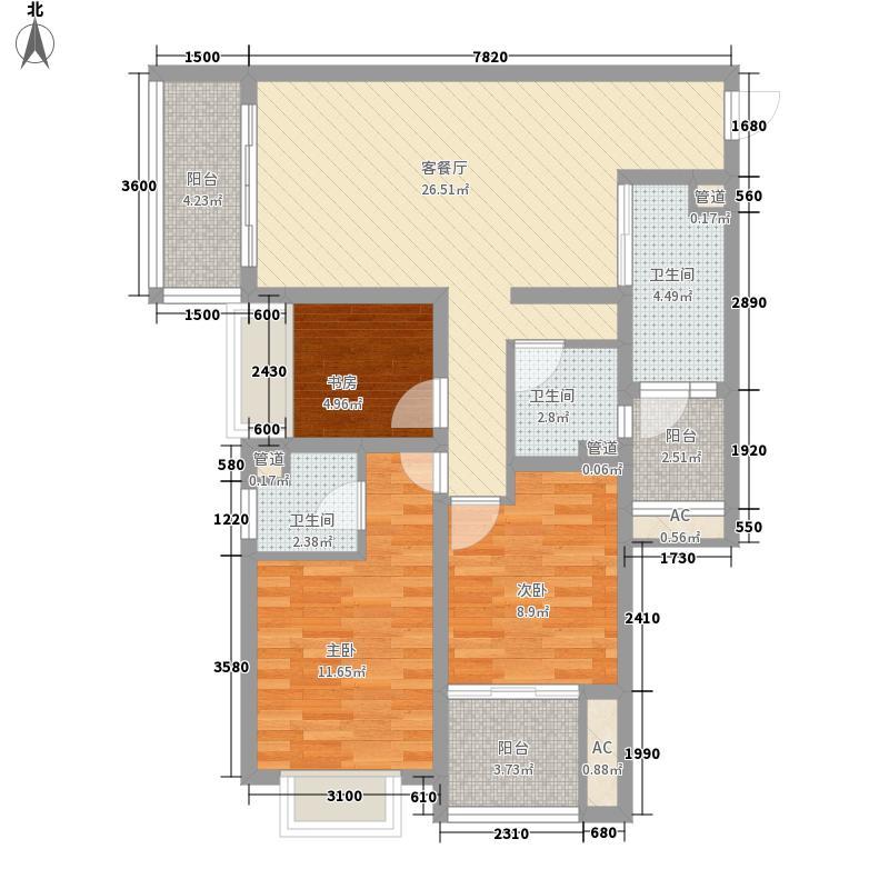 江与城76.00㎡江城时光组团2、10号楼标准层E户型