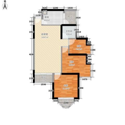 阳光花园五期3室0厅1卫1厨90.00㎡户型图