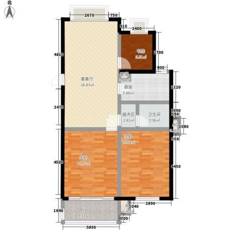 金水湾3室1厅1卫1厨117.00㎡户型图