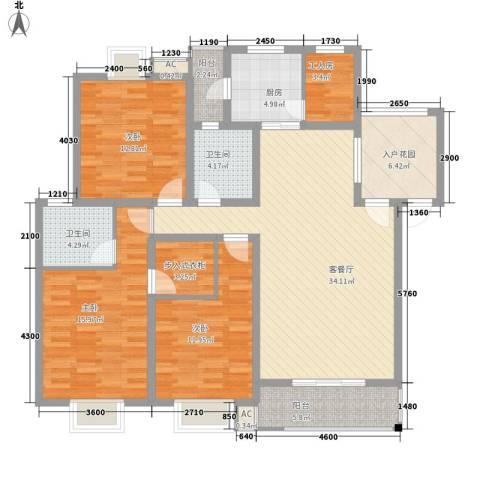 丹桂苑3室1厅2卫1厨133.00㎡户型图