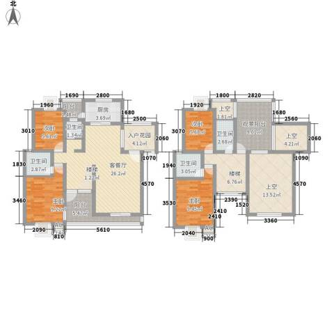 丹桂苑4室1厅4卫1厨175.00㎡户型图