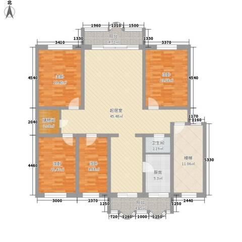 宽平花园4室0厅1卫1厨181.00㎡户型图