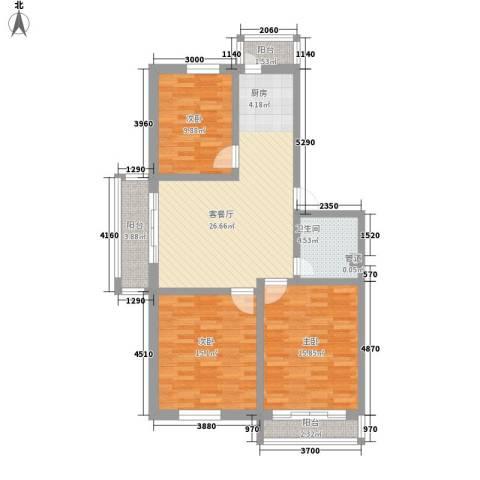 送变电宿舍3室1厅1卫0厨118.00㎡户型图