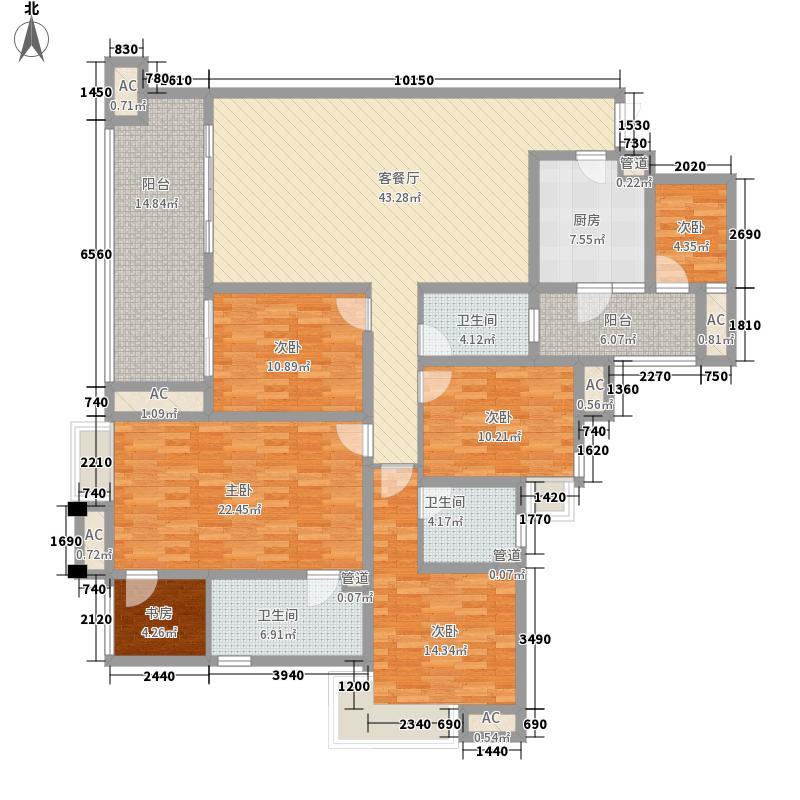 江与城160.00㎡千山万树组团9栋D1(标准层)户型