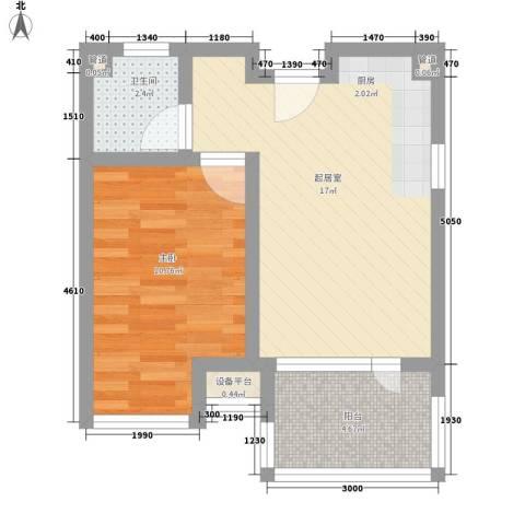 黄山纳尼亚小镇1室0厅1卫0厨49.00㎡户型图