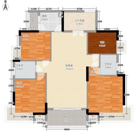 康怡花园4期4室0厅2卫1厨138.00㎡户型图