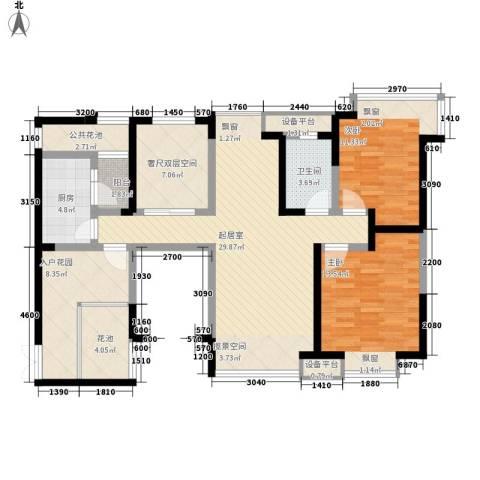 中海兰庭二期2室0厅1卫1厨89.33㎡户型图