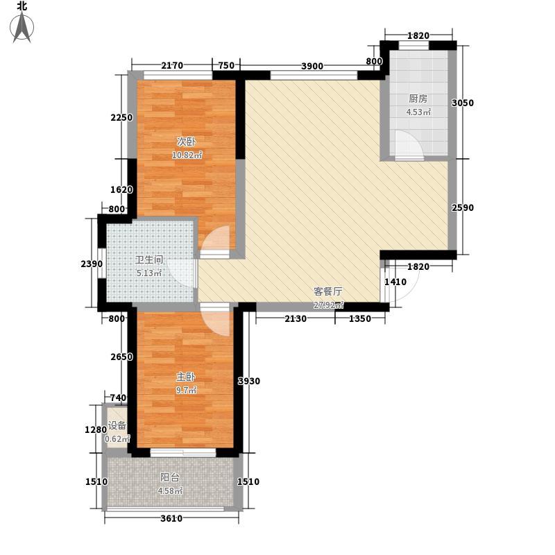 翡翠公馆91.05㎡翡翠公馆户型图A户型2室2厅1卫1厨户型2室2厅1卫1厨