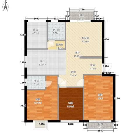 学林雅苑3室0厅2卫1厨119.00㎡户型图