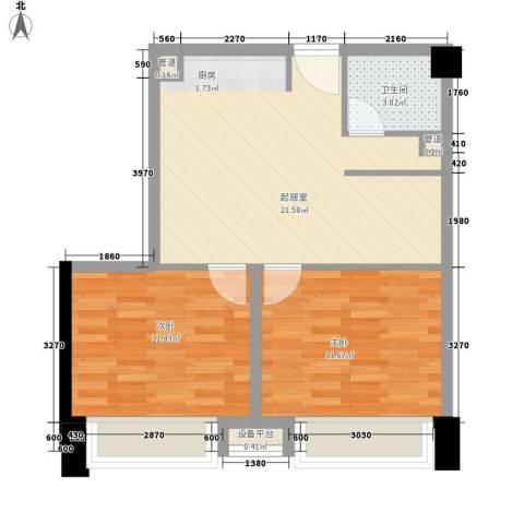 中通二局家属院2室0厅1卫0厨69.00㎡户型图