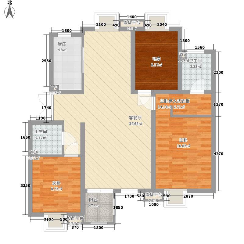 伊品水岸121.45㎡G户型3室2厅2卫1厨