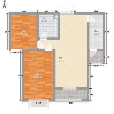 新力景瑞新城2室1厅1卫1厨71.23㎡户型图