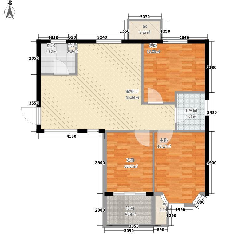 安居苑西村156.00㎡安居苑西村3室户型3室