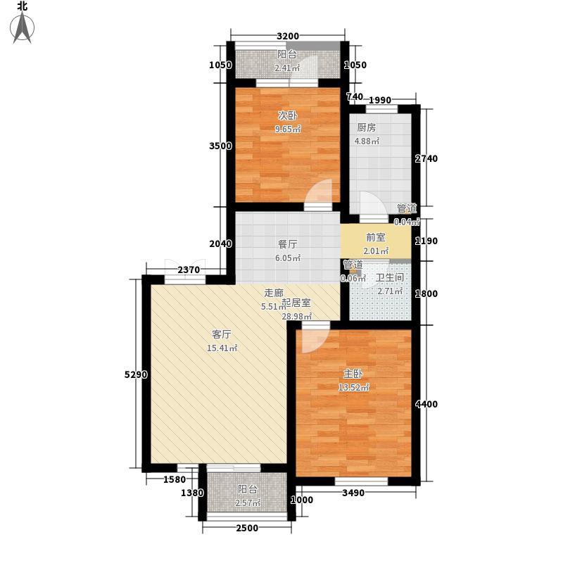 安联大城小院92.00㎡5-3-601面积9200m户型