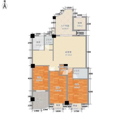 新城海世界3室0厅2卫1厨131.00㎡户型图