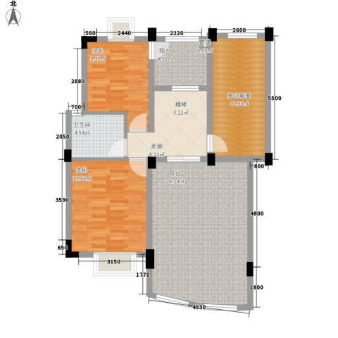 长城嘉苑2室0厅1卫0厨112.00㎡户型图