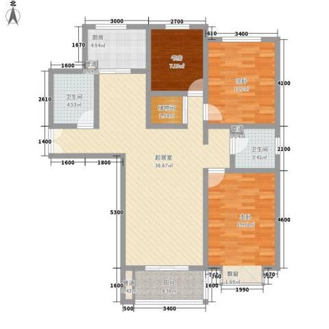 新力景瑞新城3室0厅2卫1厨133.00㎡户型图
