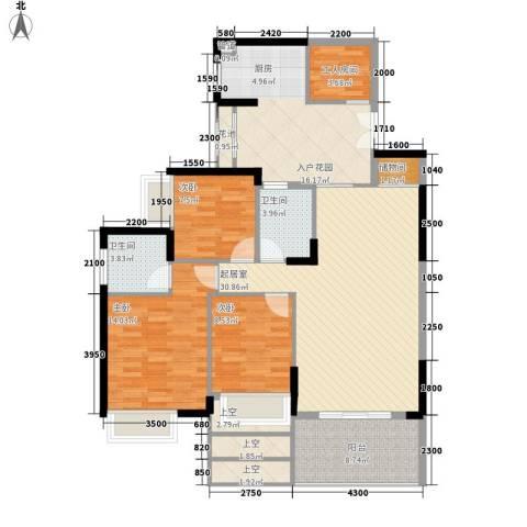 劲力城市明珠三期3室0厅2卫0厨113.00㎡户型图