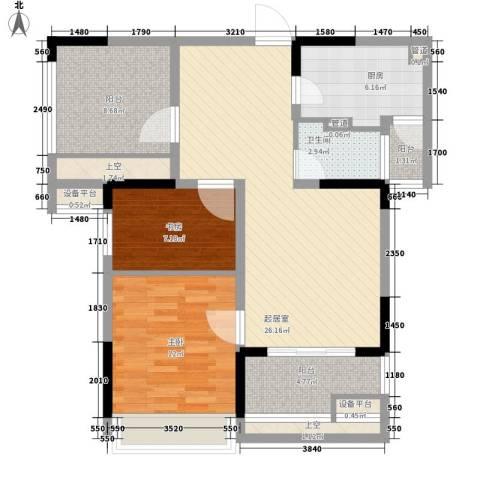 招商小石城别墅2室0厅1卫1厨108.00㎡户型图