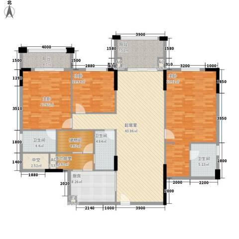 雅宝新城别墅3室0厅3卫1厨204.00㎡户型图