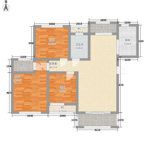 爱伦坡3室0厅1卫1厨100.00㎡户型图