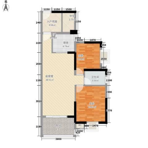 劲嘉山与城2室0厅1卫1厨105.00㎡户型图