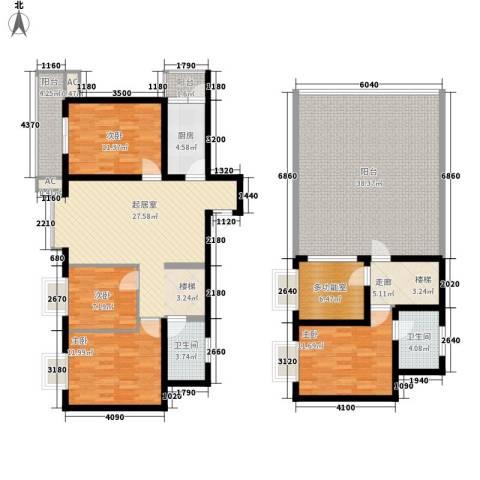 安信花园4室0厅2卫1厨160.00㎡户型图