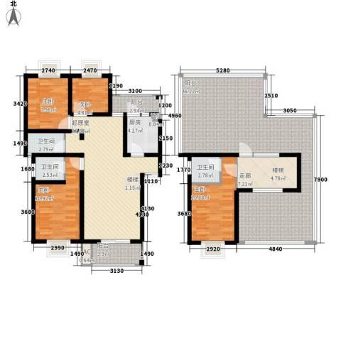 安信花园4室0厅3卫1厨157.00㎡户型图