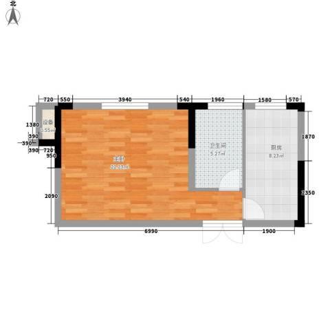 乐客来国际商业中心1室0厅1卫1厨40.00㎡户型图