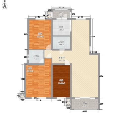 我的家园3室1厅2卫1厨159.00㎡户型图