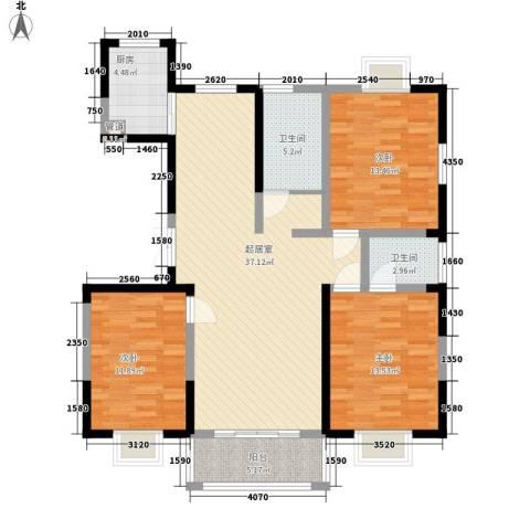 绿润名都3室0厅2卫1厨135.00㎡户型图