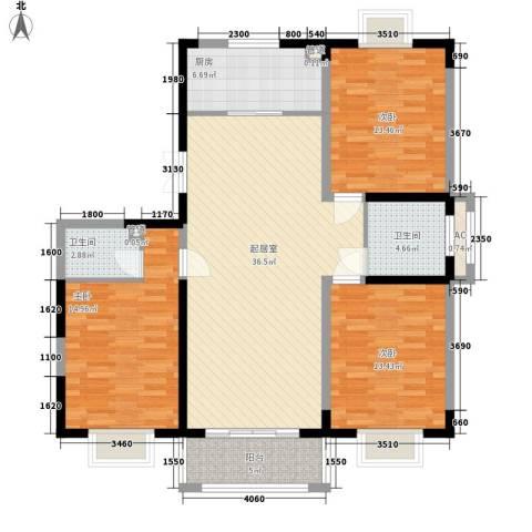 绿润名都3室0厅2卫1厨139.00㎡户型图