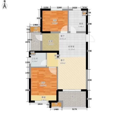天正理想城2室0厅1卫1厨85.00㎡户型图