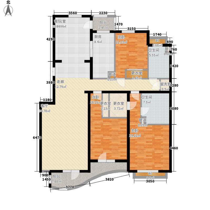 乐成国际乐成公馆A2户型3室2厅2卫1厨