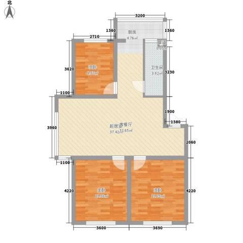 俪华精舍3室0厅1卫0厨102.00㎡户型图
